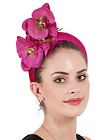 cheap -Queen Elizabeth Audrey Hepburn Retro Vintage 1950s 1920s Kentucky Derby Hat Pillbox Hat Women's Costume Hat Purple / Red / Blue Vintage Cosplay Party Prom