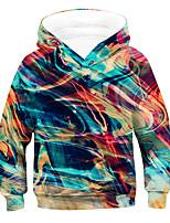 cheap -Kids Boys' Active Basic 3D Long Sleeve Hoodie & Sweatshirt Rainbow