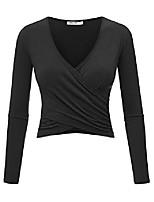 cheap -wt1732 womens short sleeve cross wrap crop top m aqua