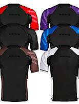 cheap -essentials short sleeve compression base layer rash guard (2x-large, all black)