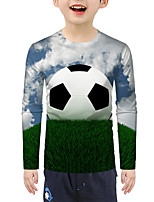 cheap -Kids Boys' Active Basic 3D Print Long Sleeve Blouse Rainbow