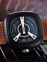cheap -SWAVES Men's Sport Watch Quartz Sporty Stylish Casual Water Resistant / Waterproof Leather Digital - Black+Gloden Black Brown
