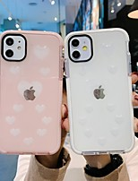 cheap -Case For Apple iPhone 7 8 7 Plus 8 Plus X XS XR XS Max SE 11 11 Pro 11 Pro Max Pattern Back Cover Heart Transparent TPU