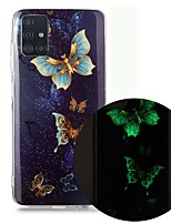 cheap -Case For Samsung Galaxy A51 5G A71 A10 A20E A30S A50 A40 A70 A70E A10S A20S A11 A01 Glow in the Dark Pattern Back Cover Butterfly TPU