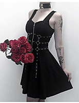 cheap -Goth Girl Gothic Goth Subculture Dress Women's Costume Black Vintage Cosplay Party Club Bar A-Line