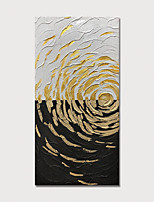 cheap -Hand Painted Canvas Oilpainting Gold Abstract Home Decoration with Frame Painting Ready to Hang With Stretched Frame