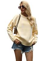 cheap -Women's Basic Plaid Sweater Long Sleeve Sweater Cardigans Crew Neck Round Neck Fall Winter Black Green Beige