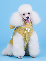 cheap -Dog Coat Pajamas Bear Casual / Daily Cute Casual / Daily Winter Dog Clothes Warm Yellow Pink Coffee Costume Cotton S M L XL XXL XXXL