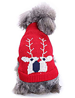 cheap -holiday festive christmas collections dog with hat turtleneck knit sweater knitwear pattern kintted doggie apparel for girl teddy, yorkshire terriers, papillon k-red l