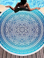 cheap -bohemian round beach towel indian mandala yoga mat tapestry 60 inch diameter & #40;red/black-mandala& #41;