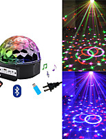 cheap -Disco Ball 9 Colors 27W Christmas Laser Projector Wedding Sound Activated Crystal Ball Party Laser Lights