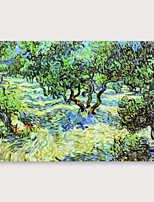 cheap -IARTS Hand Painted forest Oil Painting with Stretched Frame For Home Decoration With Stretched Frame