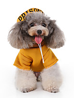 cheap -Dog Halloween Costumes Costume Shirt / T-Shirt Letter & Number Casual / Sporty Cute Christmas Party Dog Clothes Breathable Yellow Costume Polyester S M L XL