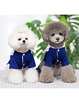 cheap -Dog Dress Princess Party Cute Christmas Party Winter Dog Clothes Warm Blue Costume Polyster XS S M L XL