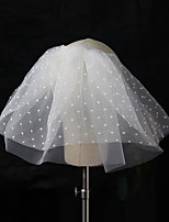 cheap -Two-tier Comtemporary / Sweet Style Wedding Veil Shoulder Veils with Solid Tulle
