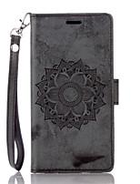 cheap -Case for  LG G 3 4 Flip Magnetic Full Body Cases Flower PU Leather