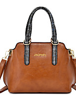 cheap -Women's Bags PU Leather Top Handle Bag Zipper for Daily / Date Black / Blue / Red / Brown