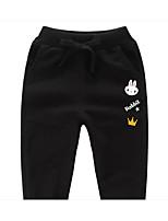 cheap -Kids Girls' Basic Solid Colored Drawstring Pants Black