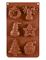 cheap -Cake Molds Christmas Silicone Cake Molds Everyday Use Creative Snowman Santa Claus