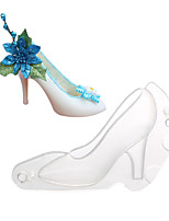 cheap -1pc Cake Molds Christmas Silicone Cake Molds Everyday Use High Heeled Shoes Chocolate Mold Jelly Candy DIY