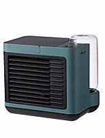 cheap -portable air conditioner fan, small evaporative air cooler humidifier purifier, personal usb rechargeable mini cooling misting desk fan 3 speeds for office bedroom home