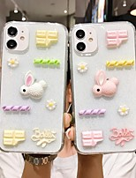 cheap -Case For  iPhone 7 8 7plus 8plus X XR XS XSMax SE(2020) iPhone 11 11Pro 11ProMax Shockproof Ultra-thin Pattern Back Cover Transparent Animal 3D Cartoon TPU
