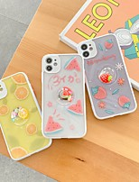 cheap -Case For Apple iPhone 7 7P iPhone 8 8P iPhone X iPhone XS XR XS max iPhone 11 11 Pro 11 Pro Max Pattern Back Cover Food Cartoon TPU