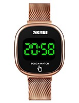 cheap -SKMEI Unisex Steel Band Watches Quartz Sporty Outdoor Water Resistant / Waterproof Digital Black Gold Silver / Stainless Steel / Calendar / date / day / Noctilucent / Large Dial