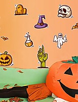 cheap -Halloween Party Halloween Decor Horror GhostHalloween Wall Stickers Decorative Wall Stickers, PVC Home Decoration Wall Decal Wall Decoration / Removable