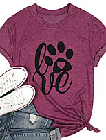 cheap -dog paw print shirts for women funny graphic tees dog lover tops summer casual short sleeve t-shirt & #40;purple-3, s& #41;