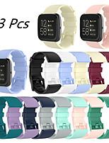 cheap -3 Pcs Sport Silicone Watch Band for Fitbit Versa 2 / Versa Lite / Versa Replaceable Bracelet Wrist Strap Wristband
