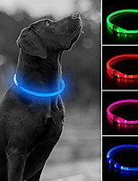 cheap -usb rechargeable led dog collar, glow in the dark led pet collar, water resistant cuttable tpu light up collars for small medium large dogs (pink-s)