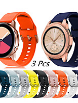cheap -Sport Silicone Watch Band for Samsung Galaxy Watch 3 45mm 41mm / Galaxy Watch 42mm 46mm / Galaxy Active 2 / Gear S3 Classic Frontier / Gear Sport / Gear S2 Classic Bracelet Wrist Strap Wristband 3pcs