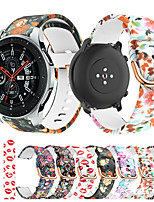 cheap -Printing Silicone Watch Band for Samsung Galaxy Watch 46mm 42mm / Galaxy Active 2 40mm 44mm / Gear S3 Classic Frontier / Gear S2 Classic / Gear Sport / Gear 2 R380 R381 Bracelet Wrist Strap Wristband