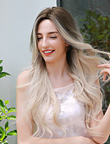 cheap -Synthetic Wig Ombre Cosplay Wig Curly Body Wave Middle Part Side Part Wig Very Long Medium Brown / Bleached Blonde Ombre Blonde Synthetic Hair 26 inch Women's Cosplay Fashion Ombre Hair Blonde Ombre