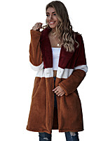 cheap -Women's Coat Regular Solid Colored Daily Basic Yellow S M L