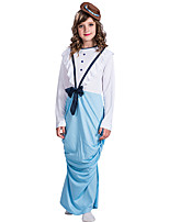 cheap -Princess Dress Cosplay Costume Teen Girls' Cosplay Halloween Halloween Festival / Holiday Polyester Blue Easy Carnival Costumes / Hat / Hat