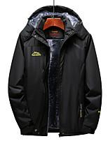 cheap -Men's Hiking Jacket Winter Outdoor Waterproof Windproof Fleece Lining Breathable Top Full Length Hidden Zipper Hunting Fishing Climbing Black / Army Green / Grey / Blue / Warm