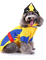 cheap -Dog Halloween Costumes Costume Shirt / T-Shirt Wolf Cosplay Cute Christmas Party Dog Clothes Breathable Yellow Costume Polyester S M L XL