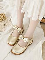 cheap -Girls' Flats Ballerina PU Big Kids(7years +) Bowknot Gold / Silver Spring / Fall