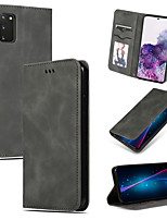 cheap -Case For Samsung Galaxy M10 A10 M20 M30 A40S A51 M40S A71 A01 A21 A81 M60S Note 10 Lite A91 M80S S10 Lite Card Holder Flip Full Body Cases Solid Colored PU Leather TPU
