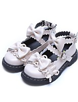 cheap -Girls' Flats Flower Girl Shoes PU Little Kids(4-7ys) / Big Kids(7years +) Walking Shoes Bowknot Black / Red / Beige Spring / Fall