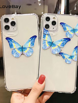 cheap -Shockproof Phone Case For IPhone 11 Pro X XR XS Max SE 2020 8 7 Plus Transparent Butterfly Animals Soft TPU