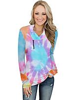 cheap -Women's Pullover Sweatshirt Tie Dye Basic Hoodies Sweatshirts  Blue Purple Blushing Pink