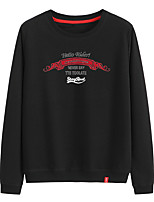 cheap -Women's Sweatshirt Sweatshirt Womens Pullover Sweatshirts Black White Pink Artistic Style Crew Neck Cute Letter Printed Sport Athleisure Pullover Long Sleeve Warm Soft Comfortable Everyday Use Causal