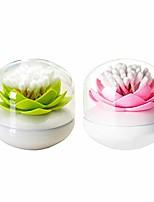 cheap -2 pack creative lotus cotton swab holder q-tips toothpicks holder table decorate cotton bud storage box organizer