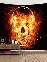cheap -Flame Skull Digital Printed Tapestry Decor Wall Art Tablecloths Bedspread Picnic Blanket Beach Throw Tapestries Colorful Bedroom Hall Dorm Living Room Hanging