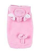 cheap -emours pig dog pet halloween costumes dog apparel hoodies with warm fleece pink (small)