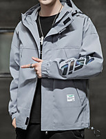 cheap -Men's Hiking Jacket Winter Outdoor Thermal Warm Windproof Breathable Soft Jacket Top Camping / Hiking Outdoor Black / Grey / Light Blue