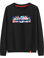 cheap -Women's Sweatshirt Sweatshirt Womens Black Sweatshirt Pullover Sweatshirts Black White Pink Artistic Style Crew Neck Cute Letter Printed Sport Athleisure Pullover Long Sleeve Warm Soft Comfortable
